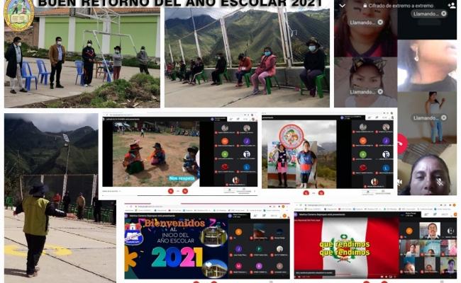 UGEL VÍCTOR FAJARDO CUMPLE EN DAR INICIO AL BUEN RETORNO DEL AÑO ESCOLAR 2021