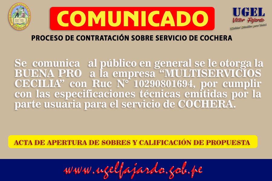 COMUNICADO COCHERA